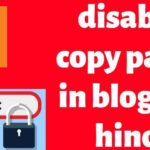 disable copy paste in blogger hindi