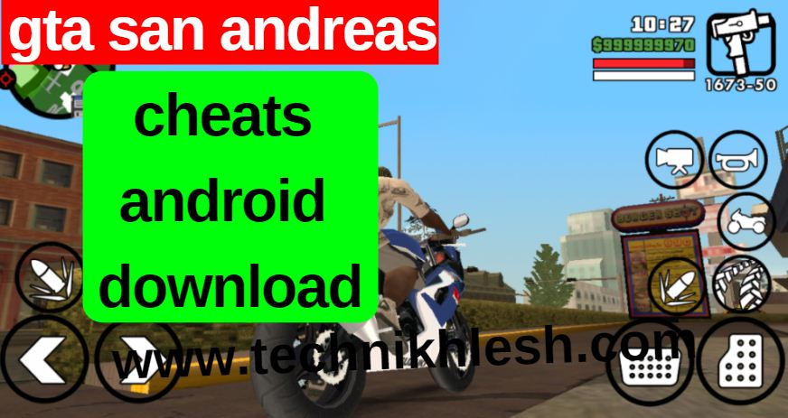 gta san andreas cheat android download