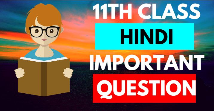 11th class hindi important question 2019