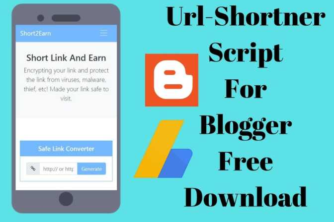 Free Download Url Shortener Script For Blogger With Full Tutorial In Hindi
