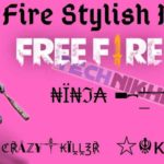 Free Fire Stylish Name Nickname